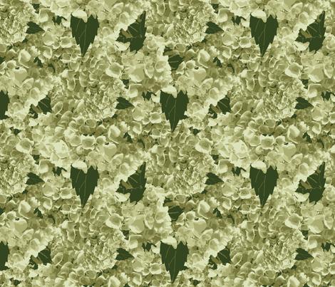 Wedding Hydrangea_Miss Chiff Designs fabric by misschiffdesigns on Spoonflower - custom fabric
