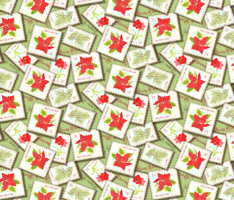 ChristmasStamps fabric by blairfully_made on Spoonflower - custom fabric