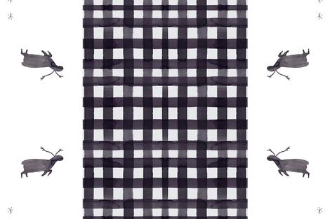 cestlaviv_caribou_pal_grey_buffalo_cheater fabric by @vivsbeautifulmess on Spoonflower - custom fabric