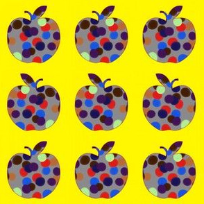 Spotty Apples (bright yellow)