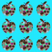 Spotty Apples (Blue)