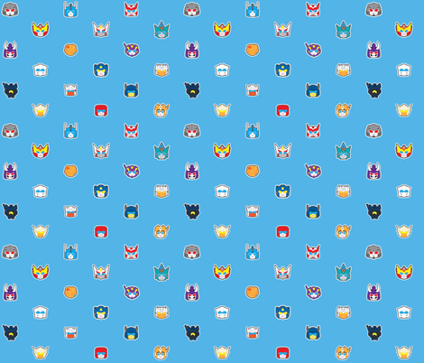 Rod Squad Blue fabric by kaysiel on Spoonflower - custom fabric