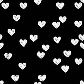 White Hearts on Black