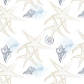 Starfish_2_beige_white_seamless_blue_coral_conch_shell_tiled_shop_thumb