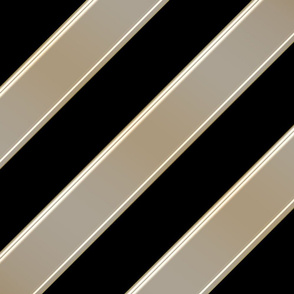 Geometric Stripes-BlackGold
