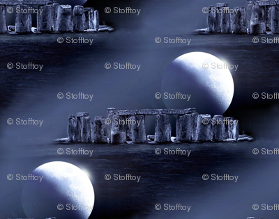 stonehenge by night - fabric