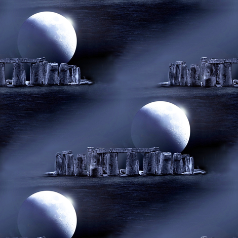 stonehenge by night - fabric fabric by stofftoy on Spoonflower - custom fabric