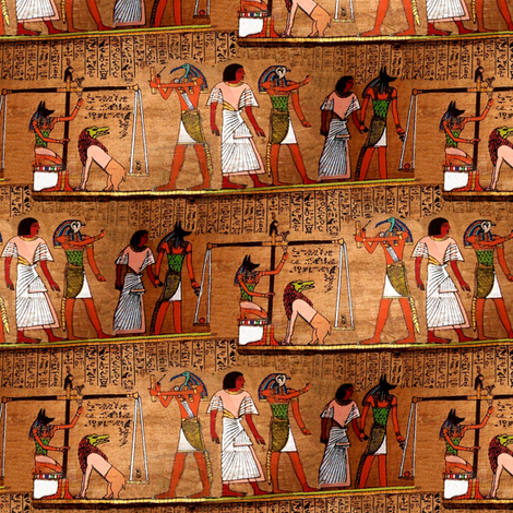 egyptian deathbook fabric by stofftoy on Spoonflower - custom fabric