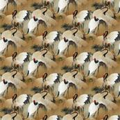 chinese crane fabric
