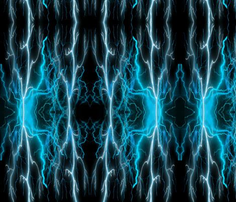 Electric Blues fabric by floramoon on Spoonflower - custom fabric