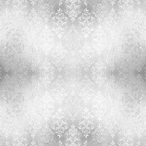 Silver Damask, gray damask, foil damask