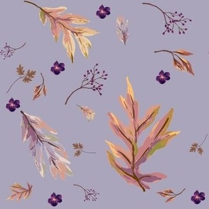 Falling Leaves in Lilac