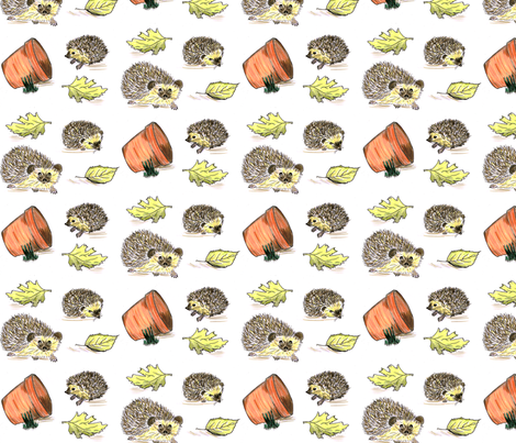 Hedgehogs colour fabric by cariannehamilton on Spoonflower - custom fabric