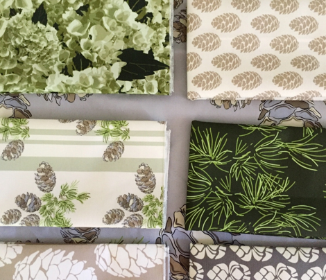 16-19C Olive Green Ombre Bricks    Forest Cream Off White Geometric Squares    Graphic Sage Green _Miss Chiff Designs