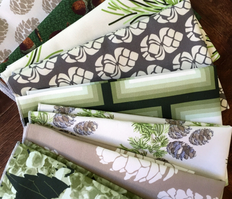 16-19C Olive Green Ombre Bricks || Forest Cream Off White Geometric Squares || Graphic Sage Green _Miss Chiff Designs