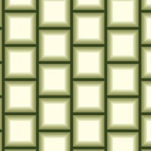 Olive Green Ombre Bricks || Forest Cream Off White Geometric Squares || Graphic Sage Green _Miss Chiff Designs