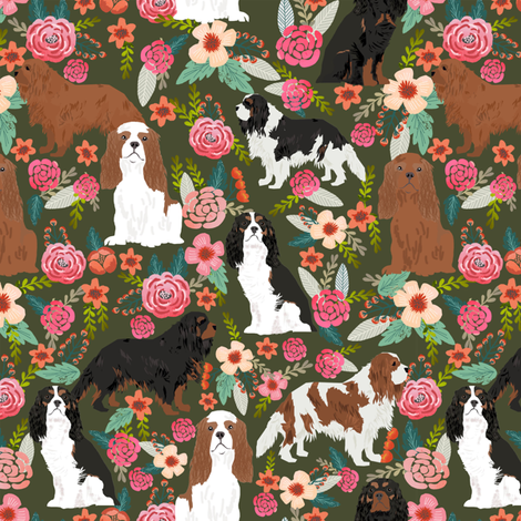 cavalier king charles spaniel dog cute pets pet spaniel dog breed fabric  fabric by petfriendly on Spoonflower - custom fabric