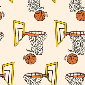 Basketball yellow/orange - large scale