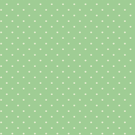 Green polka dots for hedgehogs fabric by petitspixels on Spoonflower - custom fabric