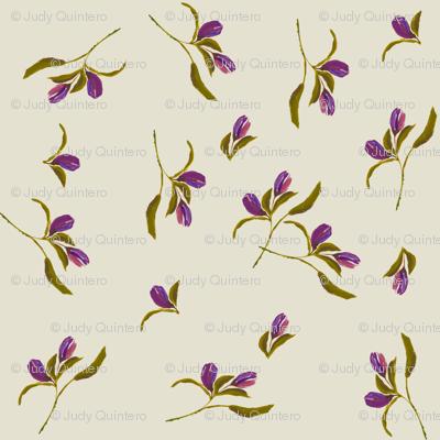 September  Dreams  Ivory & Purple