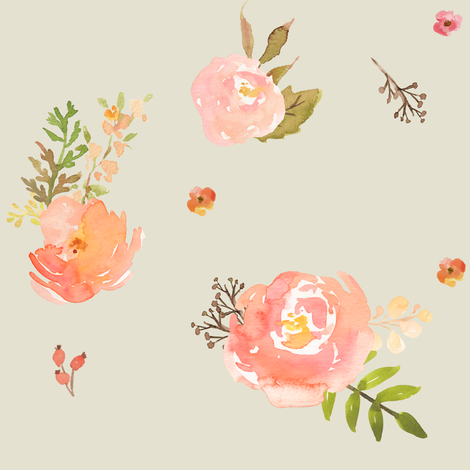 Amelia's Flowers  fabric by shopcabin on Spoonflower - custom fabric