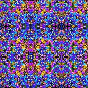 Neon Kaleidoscope Blooms