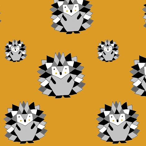 Hedgehog Ochre   fabric by natmü_design on Spoonflower - custom fabric