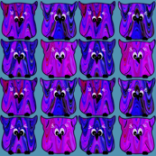 Cartoon Owls in Purple & Pink