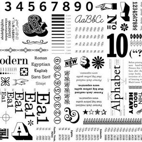 Typo-Graphic (Black on White)