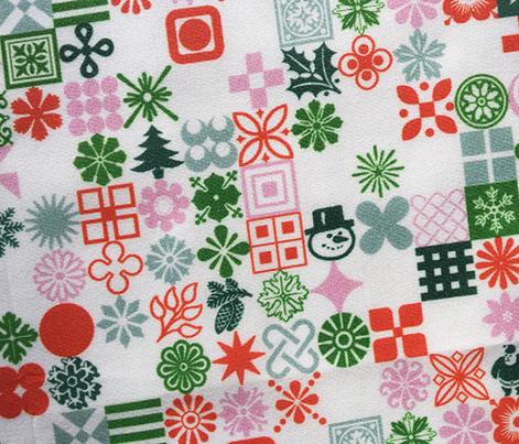 Christmas Ornaments* (Mini) || Christmas holiday typography symbols stars snowflakes Santa Claus flowers holly