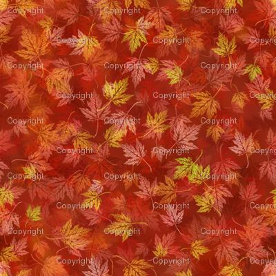 Faux Batik Red Maple