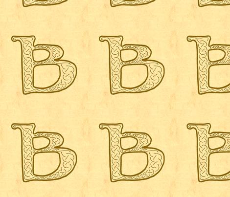 B-parchment-Aleph1 fabric by ingridthecrafty on Spoonflower - custom fabric