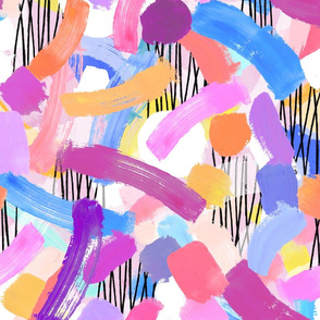 Lipstick Painted Abstract