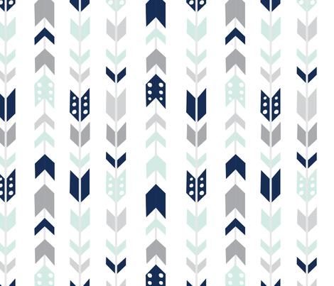 navy_mist_grey fabric by graceandcruzdesigns on Spoonflower - custom fabric