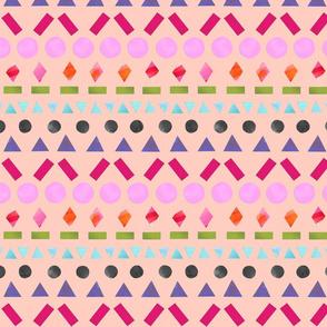 Painted Shapes Geometric - Peach