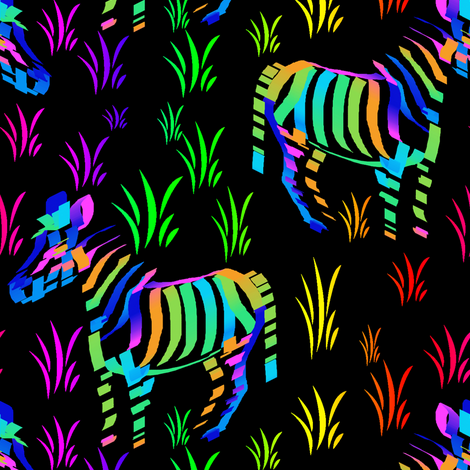 Zebras are what they eat at night fabric by eclectic_house on Spoonflower - custom fabric