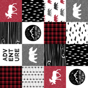 Happy Camper (90) || Wholecloth Quilt Top - Lumberjack collection