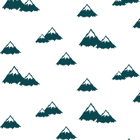 mountains || the yellowstone collection fabric by littlearrowdesign on Spoonflower - custom fabric