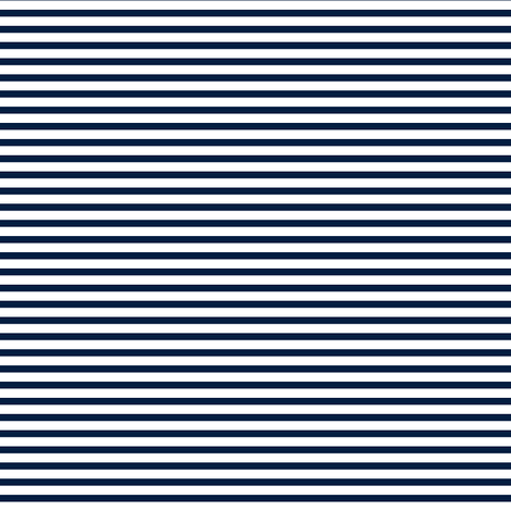skinny navy stripes fabric by littlearrowdesign on Spoonflower - custom fabric