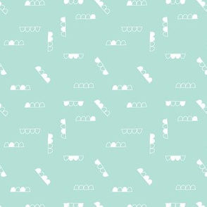 A sweet baby pattern - mint small