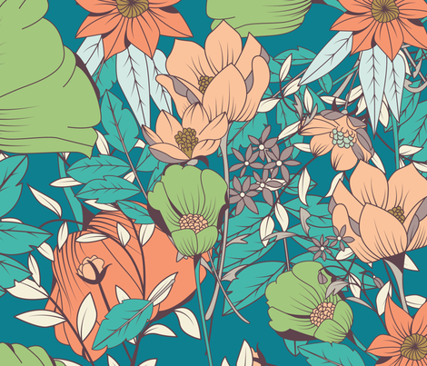 Botanical Pattern 012 fabric by bluelela on Spoonflower - custom fabric