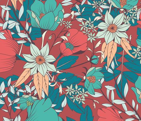 Botanical Pattern 014 fabric by bluelela on Spoonflower - custom fabric