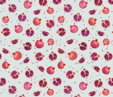 POMEGRANATE fabric by kindofstyle on Spoonflower - custom fabric