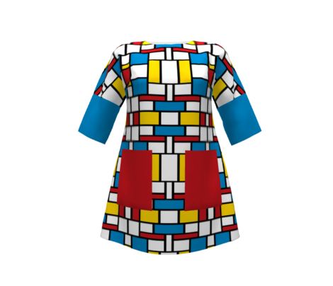 Sixties Color Block Pattern