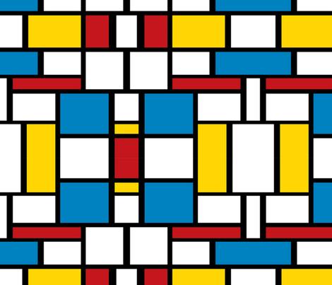 Sixties Color Block Pattern Fabric Floramoon Designs