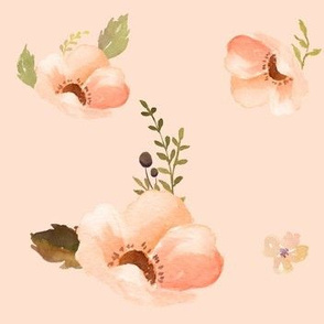 Floral Warmth in Peach