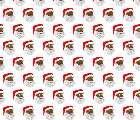 African American Santa Small fabric by tarak on Spoonflower - custom fabric