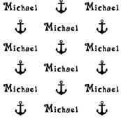 Custom Name Anchor Fabric