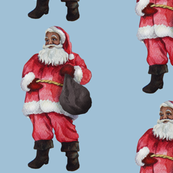 African American Santa Large Modern