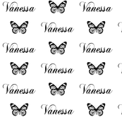 Butterfly Name Fabric